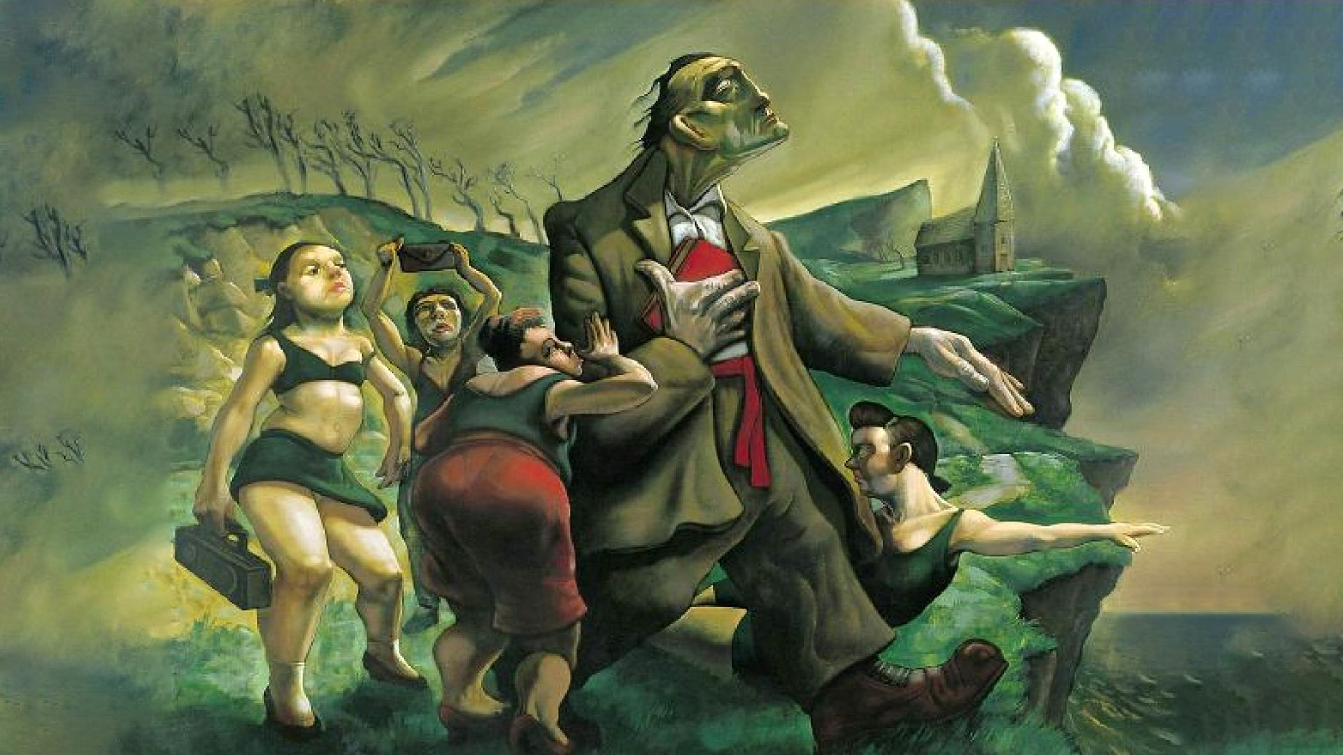 Live - All Over You - Peter Howson- Sisters of Mercy